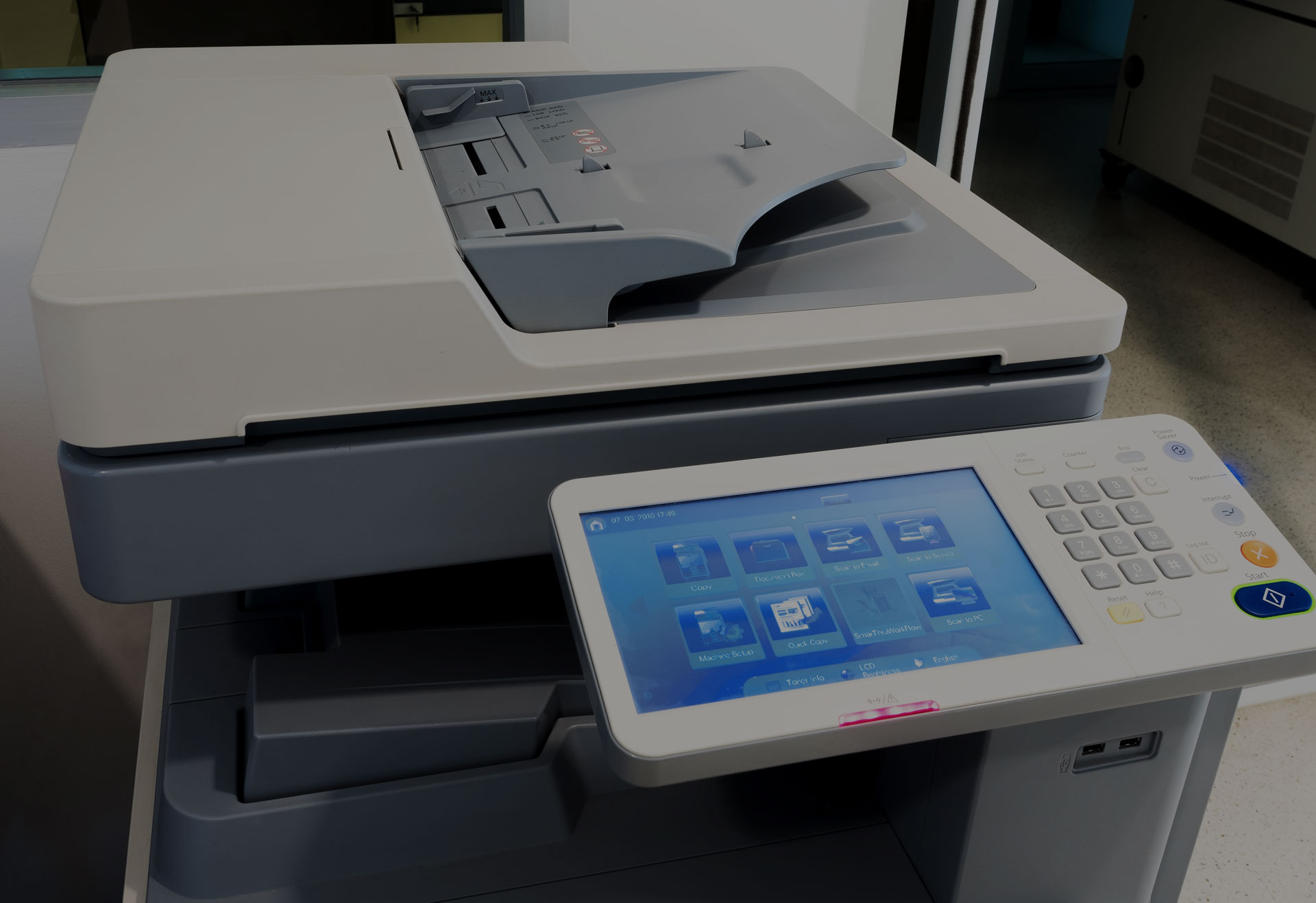 Printer and scanner machine